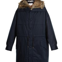 Faux-fur trimmed cotton parka | Stella McCartney | MATCHESFASHION.COM US