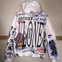 VLONE Hoodies Men Women New Style Graffiti VLONE Sweatshirts Hip Hop Pullover Fashion VLONE Hoodies