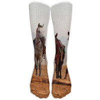 Pentium's Horse Novelty Cotton Knee High All-Over Printed Socks