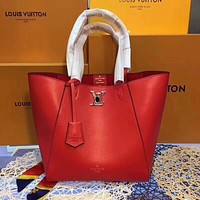 LV Louis Vuitton WOMEN'S LEATHER HANDBAG TOTE BAG