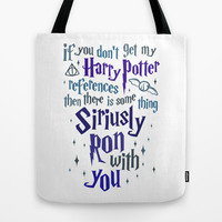 Harry Potter References Tote Bag by LookHUMAN