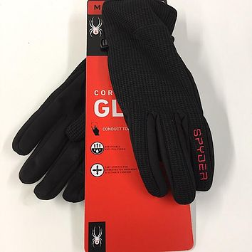 Spyder Core Winter Gloves Conductive Material For Touch Screen Devices