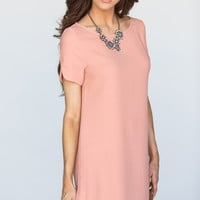 Sara Peach Shift Dress