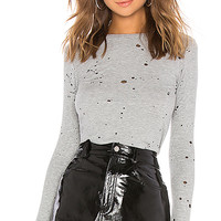 Michael Lauren Mathis Long Sleeve Tee in Heather Grey | REVOLVE