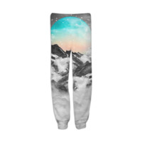 It Seemed To Chase the Darkness Away (Guardian Moon / Winter Moon) Unisex Sweatpants Joggers created by soaringanchordesigns   Print All Over Me