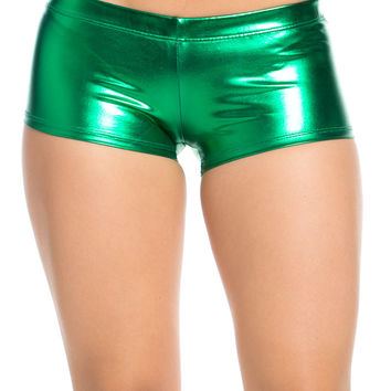 Faux Booty Shorts Green