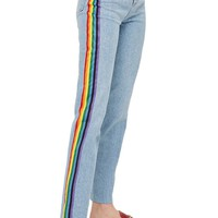 Topshop Rainbow Side Straight Leg Jeans | Nordstrom