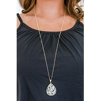 Falling Down Necklace - Taupe