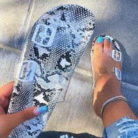 New women's beach glass slipper sandals are selling like hot cakes