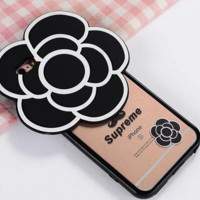 Unique Floral  3D Soft  Silicone Case for Iphone 6 6s plus