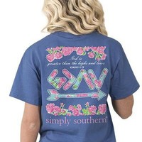 Simply Southern God is Greater than The Highs and Lows Tee - Blue