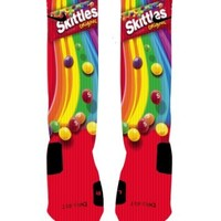 Skittles Candy Custom Nike Elite Socks (Small (4-6))