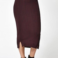 PEAP1N RVCA Domestic Knit Midi Skirt