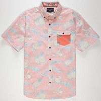 Billabong Pineapples Mens Shirt Coral  In Sizes