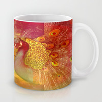 :: Sunflower and Ruebin the Royal Peacock ::  by Ganech Joe and Gale Storm Mug by GaleStorm Artworks