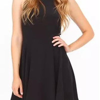Must-Have Halter Neck Chiffon Dress