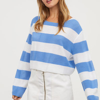 Striped Sweater - Blue/white striped - Ladies | H&M US