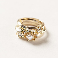 Floret Pearl Stacking Rings