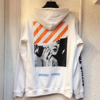 OFF-WHITE Men Women Fashion Top Pullover Sweater Sweatshirt