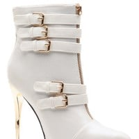 Silver Fox Pointed Toe Multi Buckle Bootie