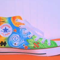 Ed Sheeran Tattoo Painted Converse by shoespls on Etsy