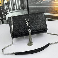 YSL Women Leather Shoulder Bags Satchel Tote Bag Handbag Shopping Leather Tote Crossbody