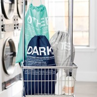 EASY SORT LAUNDRY BAGS, SET OF 3, POOL/NAVY/GREY
