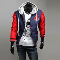 Cleveland Indians Puffer Slim Jacket with Hood