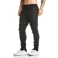 Spring new Mens Fitness Brand Sweatpants Pant male Bodybuilding drawers Elastic band Solid color trousers Crossfit Pencil pants