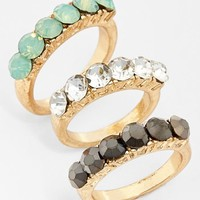 Leith Stone Rings (Set of 3)