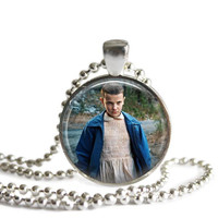 Eleven Silver Plated Picture Pendant Necklace Stranger Things 11