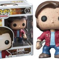Funko Pop TV: Supernatural - Sam Blood Splatter Exclusive Vinyl Figure
