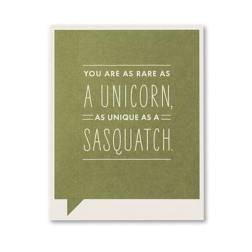 Thank You Greeting Card - You are as Rare as a Unicorn