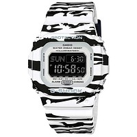 Casio Mens G-Shock Black & White - Tiger Stripe - Strap - Digital - 200M