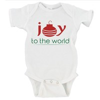 Joy To The World Merry Christmas Gerber Onesuit ®