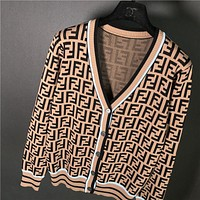 FENDI Trending Women Stylish F Letter Zipper Cardigan Jacket Coat