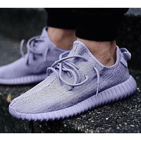 Adidas Women Yeezy Boost Sneakers Running Sports Shoes Purple