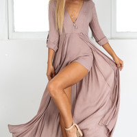 STEAL THE SHOW PLAYSUIT IN MOCHA