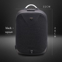 School Backpack Men 15.6 Laptop Backpack USB Charging Backpack Anti Theft  Waterproof Male Mochila Casual Travel Bag 2018 New AT_48_3