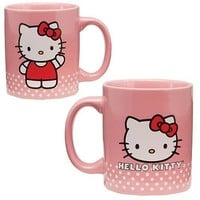 Vandor 18061 Hello Kitty Ceramic Mug, Pink, 12-Ounce