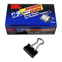 OIC Binder Clips Mini 916 Black Box Of 12 by Office Depot & OfficeMax