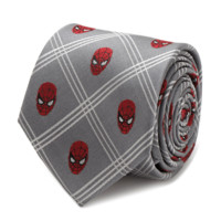 Spider-Man Gray Plaid Tie BY MARVEL