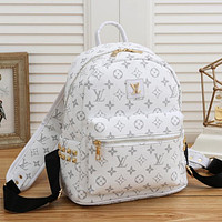 Louis Vuitton LV Fashion Leather Backpack Bookbag