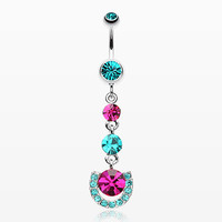zzz-Vivacious Crystals Belly Button Ring