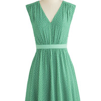 ModCloth Mid-length Sleeveless A-line Herb Garden Party Dress in Mint