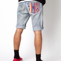 Reclaimed Vintage | Reclaimed Vintage Shorts with Aztec Pocket at ASOS