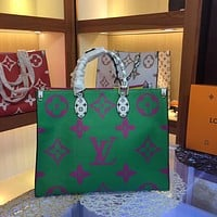 LV Louis Vuitton MONOGRAM CANVAS ONTHEGO HANDBAG TOTE BAG