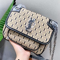 YSL Fashion New More Letter Leather Chain Shopping Leisure Shoulder Bag Women