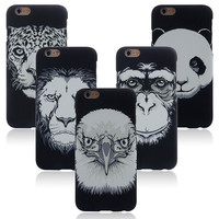 Animal Handmade Sketch Luminous Light Up iPhone creative cases for 5S 6 6S Plus Free Shipping
