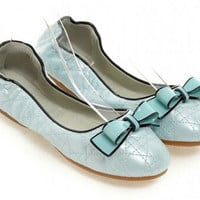 Women new fashion spring summer soft outsole round toe young girl flat heels bow egg rolls sweet shoes